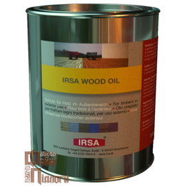 КОЛЬОРОВА ОЛІЯ IRSA WOOD OIL dunkelgrau (темно-сірий); weiss (білий); rostrot (колір іржі); lärche (модрина)., 2,5 літра